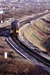 Class 150 DMU 150276, joining Clifton Down line, Narroways Junction, Bristol, January 1994 Scans906 (10708293005).jpg