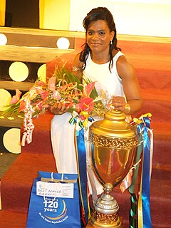 Clementina Agricole Seychellois weightlifter