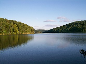 Washington Township, Harrison County, Ohio - Clendening Lake from State Route 799