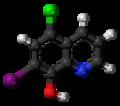 Clioquinol 3D ball.png