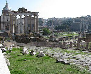 Clivus Capitolinus - Clivus capitolinus starting around temple of Saturn