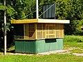 Closed Old Polish 'Ruch' Kiosk in Sorkwity, Warmian-Masurian Voivodeship, Poland, July, 2020.jpg