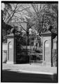 Closer view of Entrance Gate - Dumbarton Oaks, 3101 R Street, Northwest, Washington, District of Columbia, DC HABS DC,GEO,234-2.tif