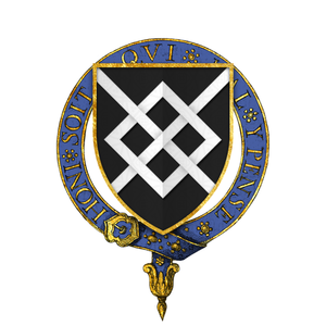 William Harrington (knight) - Garter arms of Sir William Haryngton