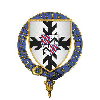 William Sandys, 1st Baron Sandys - Arms of Sir William Sandys, KG