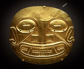 Peabody Museum of Archaeology and Ethnology - Coclé gold plaque, from Panama, circa 700 AD, excavated by a Peabody Museum expedition, 1930