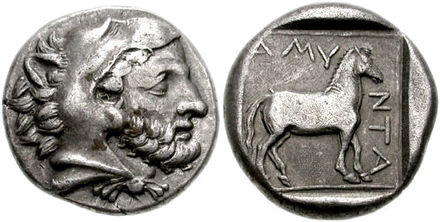 Amyntas III, stater