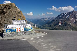 2011 Tour de France - The Col du Galibier in the Alps was climbed twice to celebrate the centenary of the introduction of the mountain range into the Tour.