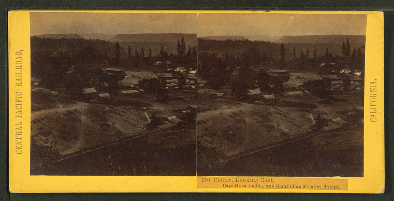 File:Colfax, looking East. Cape Horn 4 miles, Giant's Gap 20 miles distant, by Hart, Alfred A., 1816-1908.png