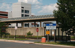 College Park–University of Maryland station - MARC Commuter Rail platform at College Park.