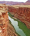 Colorado River through Marble Canyon, Navajo Bridge, AZ 9-15 (21606058579).jpg