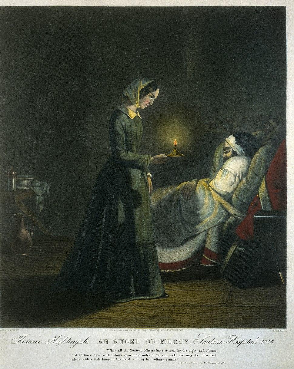 Coloured mezzotint; Florence Nightingale, Wellcome L0019661