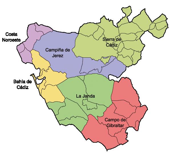 Comarcas de Cádiz