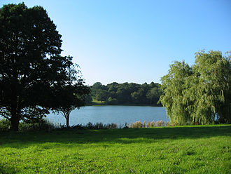 Combermere Abbey - Comber Mere, the monastery's setting