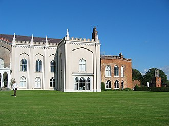 Combermere Abbey - Abbot's house and clock tower