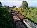 Comboios em cruzamento no pátio da Estação Ferroviária de Itu - Variante Boa Vista-Guaianã km 201 - panoramio.jpg