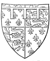 Fig. 716.—Richard, Prince of Wales (afterwards Richard II.), son of preceding: Arms as preceding. (From his seal, 1377.)