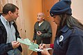 Coney Island, N.Y., Nov. 20, 2012 -- FEMA Community Relations Limited English Proficiency (LEP) Specialists, Eric Phillipson and Rossy Rey speak to Russian hurricane survivors about - DPLA - d2ecf6b4eaf2955d00b087c5444ee841.jpg