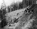 Construction on flume line at site of a landslide, August 4, 1903 (SPWS 650).jpg