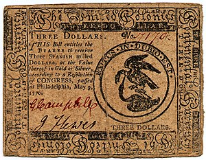Continental Currency $3 banknote obverse (May 9, 1776).jpg