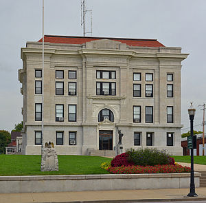 Cooper County, Missouri - Image: Cooper County MO Courthouse 20140920 pano 1 crop