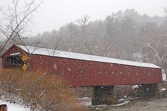 West Cornwall Covered Bridge - The bridge in winter.
