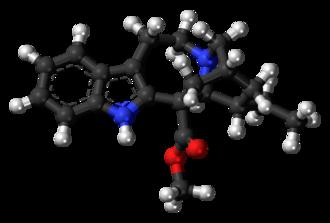 Coronaridine - Image: Coronaridine molecule ball