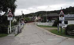 Corpach Level Crossing - with new barriers (10428813654).jpg
