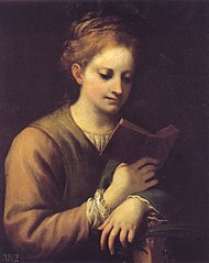 Saint Catherine Reading