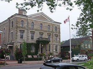 Niagara-on-the-Lake - The Court House, a Shaw Festival theatre and Parks Canada headquarters of Niagara National Historic Sites