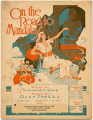 "Mandalay (poem) - Sheet music of ""On the Road to Mandalay"", 1907"