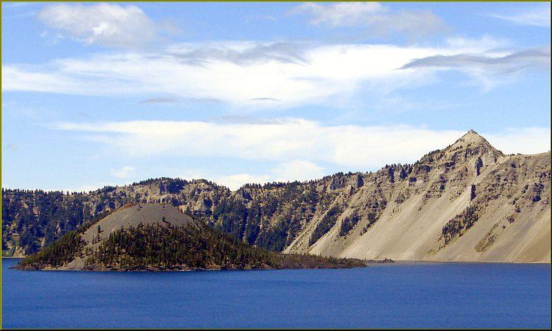 File:Crater Lake NP, OR, Wizard Island and The Watchman 8-28-13b (9859840473).jpg