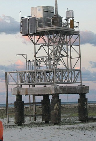 Creal Reef Light - the weather station on Creal Reef