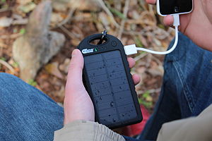 Solar charger - Creative Edge Solar-5, 1.2w solar panel with 5000mAh internal battery