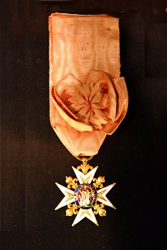 Jean Augustin Ernouf - The Order of St. Louis, from the Bourbon Restoration.