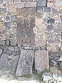 Cross stones in Bjni St. Gevorg church.jpg