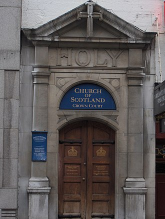 Crown Court Church - Main entrance, Russell Street