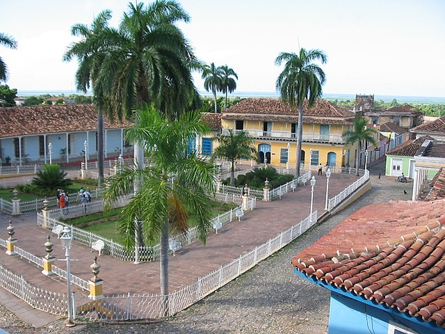 Trinidad Central Square By Georgios at English Wikipedia [Public domain], via Wikimedia Commons