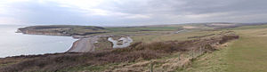River Cuckmere - Looking West over Cuckmere Haven