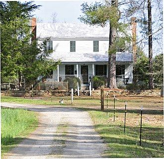 Cureton-Huff House - The Cureton-Huff House in 2012