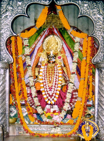 English: Image of the deity of Chandi temple, ...