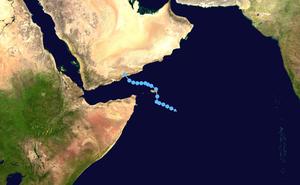 2008 Yemen cyclone - Image: Cyclone 03A 2008 track