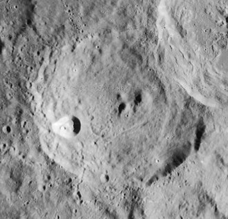 Cyrillus (crater) - Lunar Orbiter 4 image