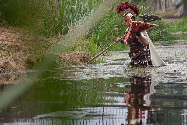 Decimus Iunius Brutus creua el riu Lethes