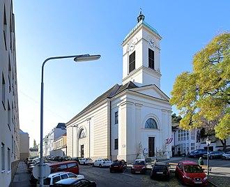 Oberdöbling - The parish church in Oberdöbling