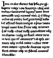 Medieval Latin text of the Dagome Iudex
