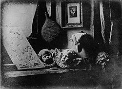 L'Atelier de l'artiste. An 1837 daguerreotype by Daguerre.