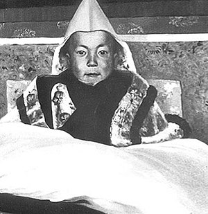 Avalokiteśvara - 14th Dalai Lama, at his enthronement ceremony, February 22, 1940 in Lhasa, Tibet