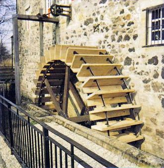 Dalgarven Mill – Museum of Ayrshire Country Life and Costume - The mill waterwheel after a recent renovation