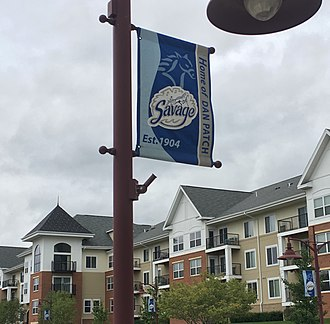 Dan Patch - Banners commemorating Dan Patch on lampposts in Savage, Minnesota